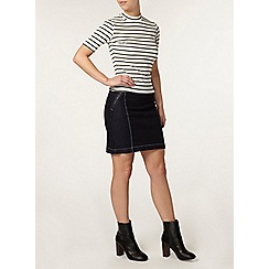 Dorothy Perkins - Petite indigo zip denim skirt