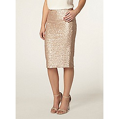 Dorothy Perkins - Petite blush sequin skirt