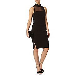 Dorothy Perkins - Petite black mesh bodycon dress