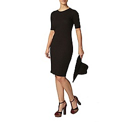 Dorothy Perkins - Petite black ribbed dress