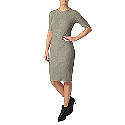 Dorothy Perkins - Petite grey ribbed dress