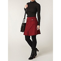 Dorothy Perkins - Petite wine a line skirt