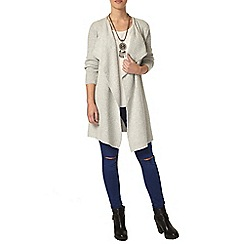 Dorothy Perkins - Petite grey waterfall cardigan