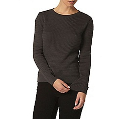Dorothy Perkins - Petite charcoal cable jumper