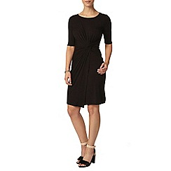 Dorothy Perkins - Petite black side twist dress
