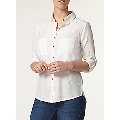 Dorothy Perkins - Petite ivory safari shirt