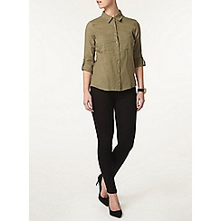 Dorothy Perkins - Petite khaki safari shirt