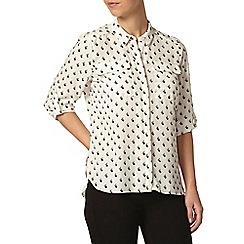 Dorothy Perkins - Petite print tie blouse
