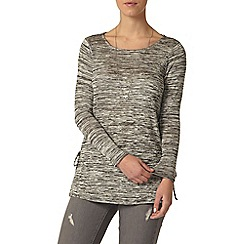 Dorothy Perkins - Petite grey tie side top