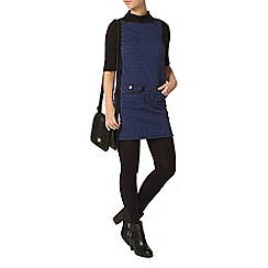 Dorothy Perkins - Petite black and blue pinafore dress