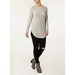 Dorothy Perkins - Petite grey knitted tunic