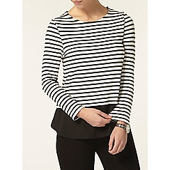 Dorothy Perkins - Petite stripe button back top