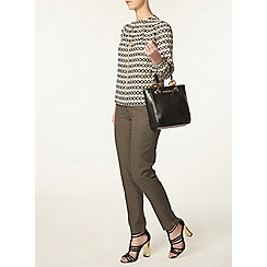 Dorothy Perkins - Petite brown check trousers