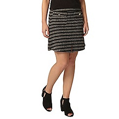 Dorothy Perkins - Petite black and grey skirt