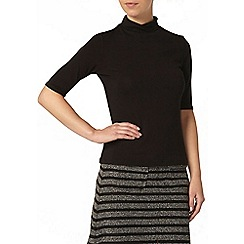 Dorothy Perkins - Petite black roll neck top