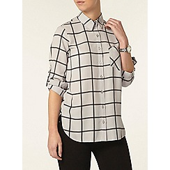 Dorothy Perkins - Petite grey check shirt
