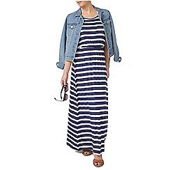 Dorothy Perkins - Petite blue stripe maxi dress