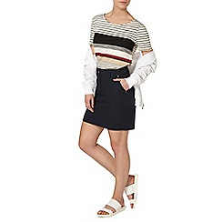 Dorothy Perkins - Petite navy poplin skirt