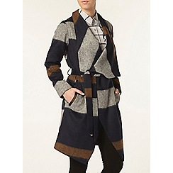 Dorothy Perkins - Petite check waterfall coat