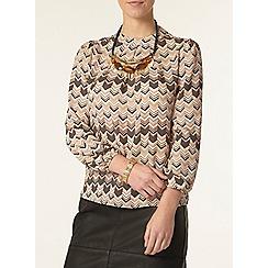 Dorothy Perkins - Petite chevron printed blouse