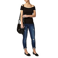 Dorothy Perkins - Petite black bardot top
