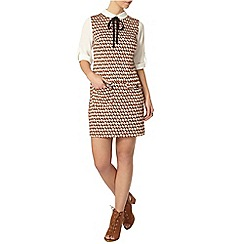 Dorothy Perkins - Petite 2-in-1 geo print pinny dress