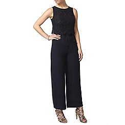 Dorothy Perkins - Petite navy lace jumpsuit