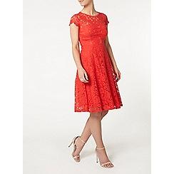 Dorothy Perkins - Petite coral flared dress