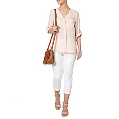 Dorothy Perkins - Petite blush pocket shirt
