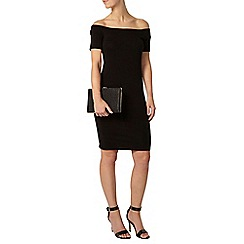 Dorothy Perkins - Petite black bardot tube dress