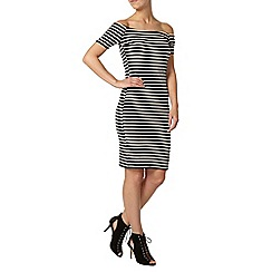 Dorothy Perkins - Petite stripe bardot dress