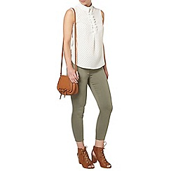 Dorothy Perkins - Petite spot sleeveless shirt