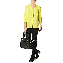 Dorothy Perkins - Petite lime roll sleeve shirt