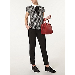 Dorothy Perkins - Petite spot print collar top