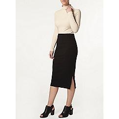 Dorothy Perkins - Petite black midi skirt