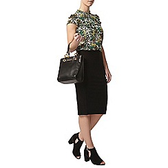Dorothy Perkins - Petite black coloumn skirt