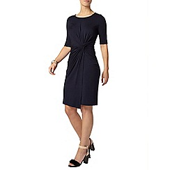 Dorothy Perkins - Petite navy twist side dress