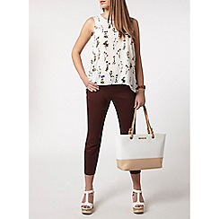 Dorothy Perkins - Petite chocolate crop trouser
