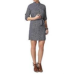 Dorothy Perkins - Petite navy spot shirtdress