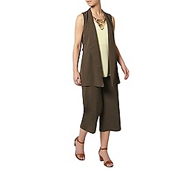 Dorothy Perkins - Petite khaki sleeveless jacket