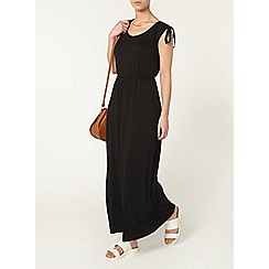 Dorothy Perkins - Petite black tie maxi dress