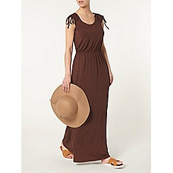 Dorothy Perkins - Petite chocolate maxi dress