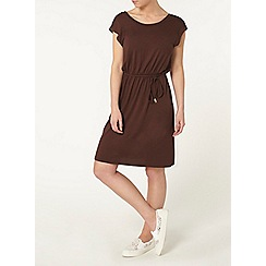 Dorothy Perkins - Petite chocolate midi dress