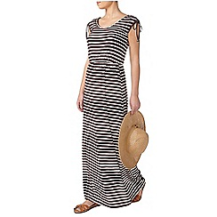 Dorothy Perkins - Petite chocolate stripe maxi dress