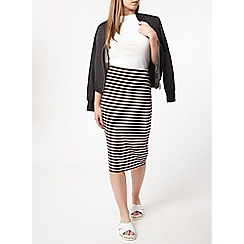 Dorothy Perkins - Petite stripe tube skirt