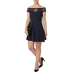 Dorothy Perkins - Petite navy lace bardot dress