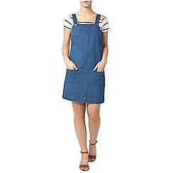 Dorothy Perkins - Petite blue pinafore dress