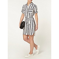Dorothy Perkins - Petite coral stripe shirt dress