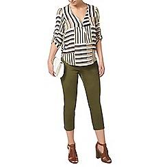 Dorothy Perkins - Petite khaki stripe shirt
