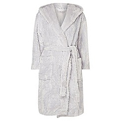 Dorothy Perkins - Petite grey chevron dressing gown